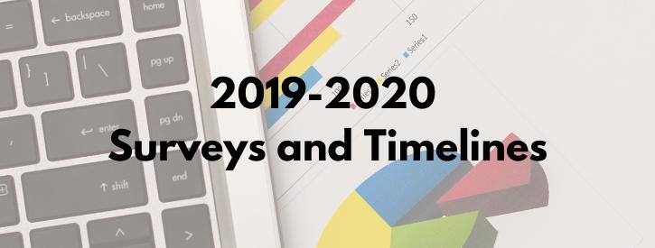 2019-2020 Surveys and Timelines